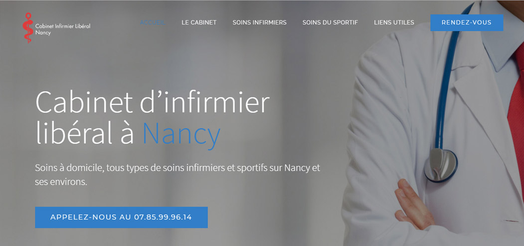 Site web Infirmier liberal Nancy