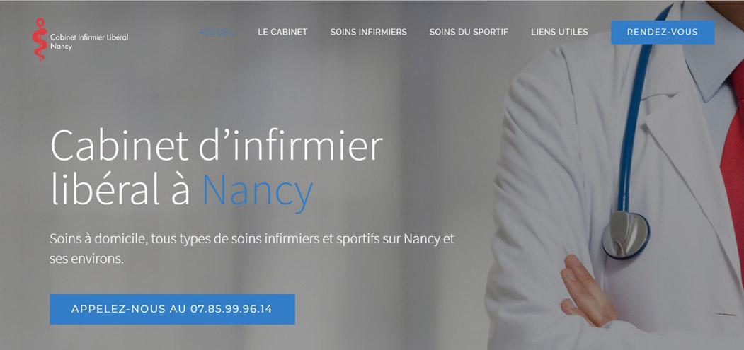 Site web Infirmier liberal Nancy